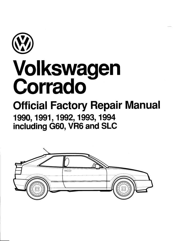 1990 1994 Vw Corrado Bentley Factory Repair Manual Pdf  94
